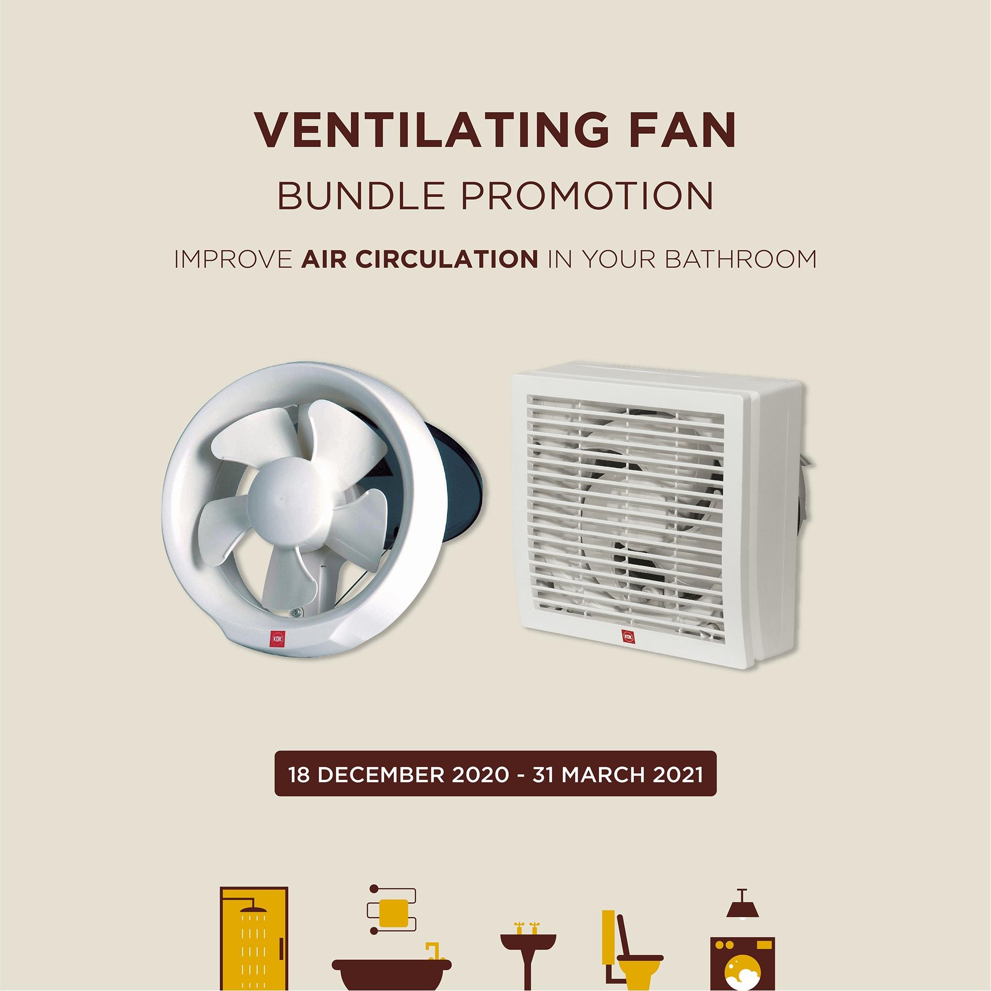 KDK Ventilating Fan Bundle Promotion